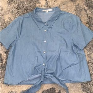 english factory button down top